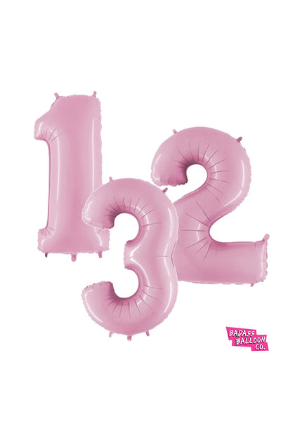 "40"" Number Balloons in Gold, Silver, or Pink - Badass Balloon Co. New Orleans"