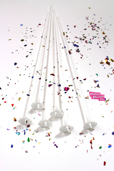 balloon sticks- no helium balloons