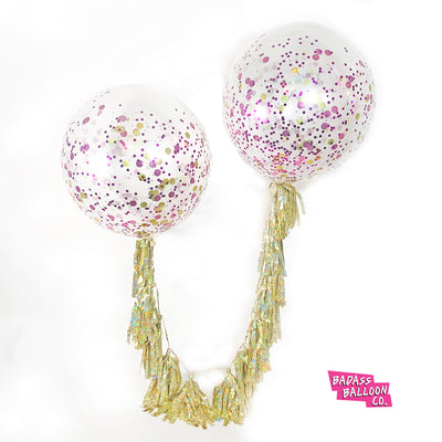 Helium Confetti Jumbo Balloon Pick Up or Delivery NEW ORLEANS ONLY