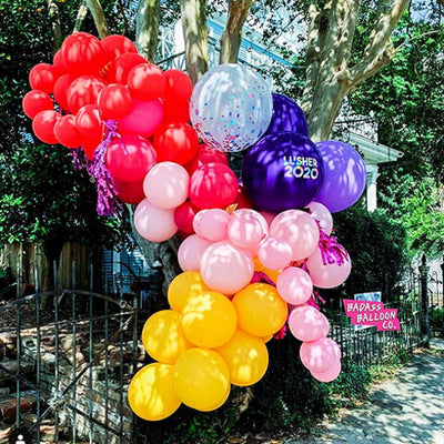 Colorful balloon garland - Celebration of 2020 Graduation - party decoration by Badass Balloon Co
