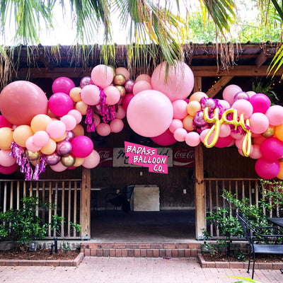 Pink Balloon Garland by Badass Balloon Co - party decoration