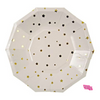 Gold Mini Stars Dinner Plate-set of 8- recycled paper
