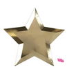 Gold Foil Star shaped Plate-set of 8- recycled paper