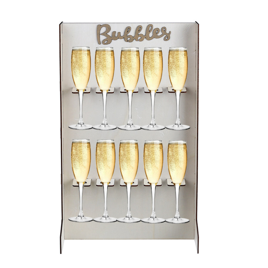 Freestanding Tabletop Champagne Wall, Bubbles Wall, Prosecco Wall reusable wedding decoration or party accessory