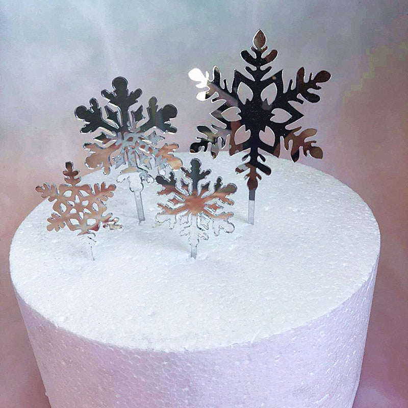 Let it Snow Cake Topper and Cupcake Pick