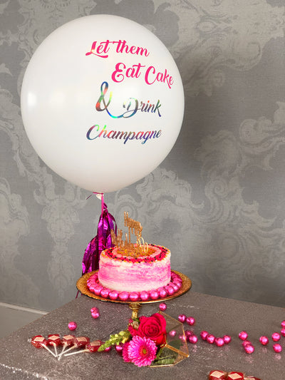 Custom Lettered Helium Confetti Jumbo Balloon Pick Up or Delivery-NEW ORLEANS ONLY