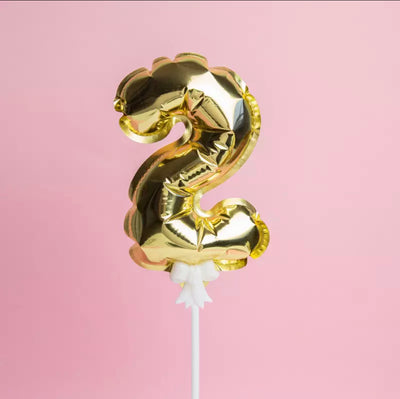 Number Balloon Cake Topper