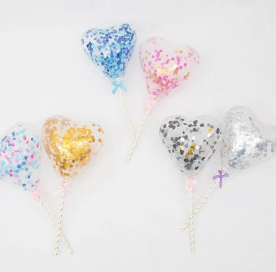 Heart Shaped Balloon Cake Topper