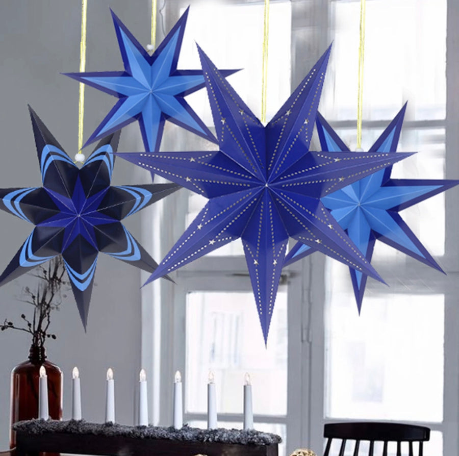 Badass Balloon Co- Paper Star- Paper Star Lanterns- Hanukkah