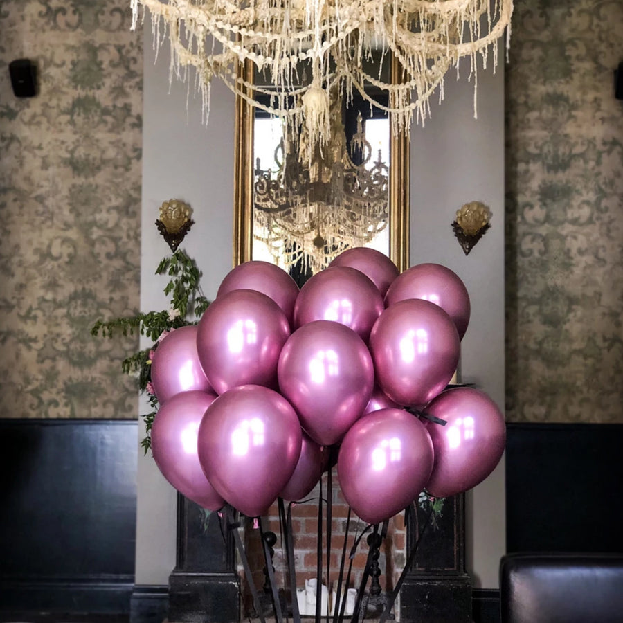 Pink Chrome Balloons Pack