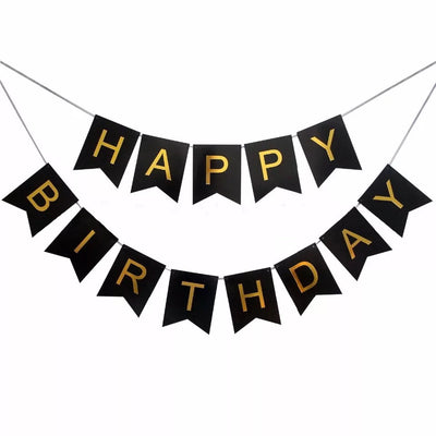 Happy Birthday Paper Party banner and bunting