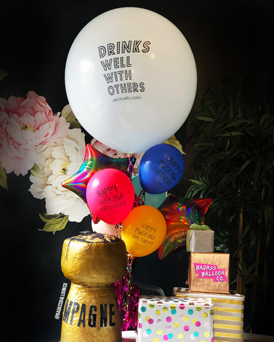 Drinks Well With Others Jumbo Badass Balloon with Tassel