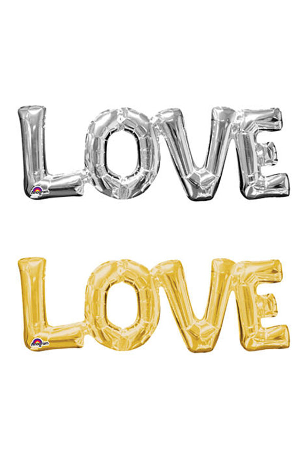 """LOVE"" Block Phrase Script Balloon"