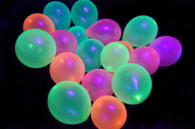 Blue Neon Party Balloons