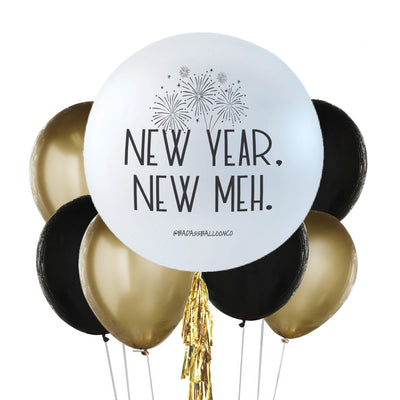 New Year. New Meh. | Badass Jumbo and Chrome Balloon Bouquet | New Year Decoration