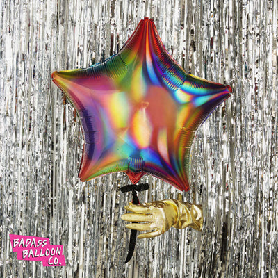 Rainbow Iridescent Star Shape
