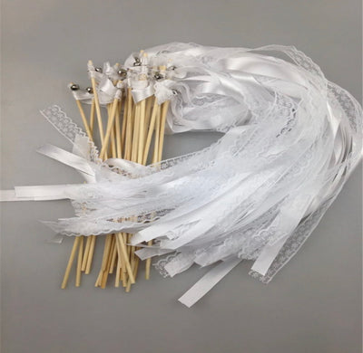 Badass Balloon Co-Ribbon Sticks-Bridal Ribbon Sticks