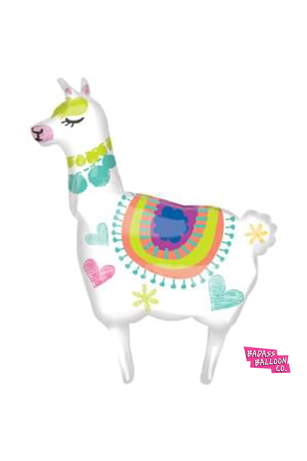 Sally the Llama Super Shape Balloon - badassballoonco