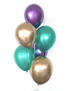 Badass Balloon Co- Balloon Bouquets- Mardi Gras Balloons- Chrome Balloons