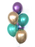 Purple and Green and Gold Chrome Balloon Bouquet (6 Balloons)