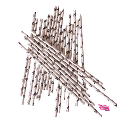 Skull Eco Friendly Paper Straws