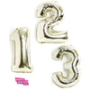 Giant Number Balloons in WHITE Gold