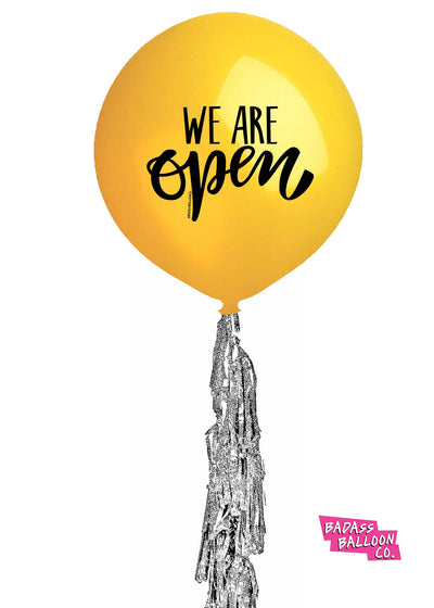WE ARE OPEN! Promotional Curbside Balloons