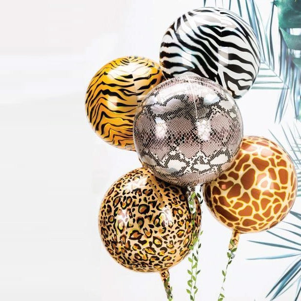 Tiger Animal Print Balloon Spheres