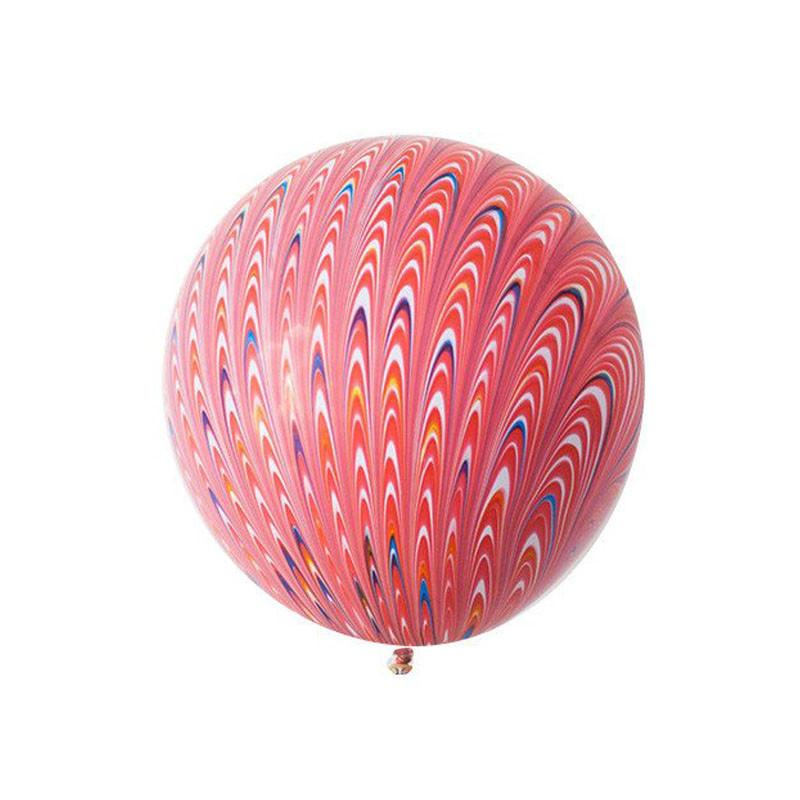Red Peacock Swirl 19inch Balloon