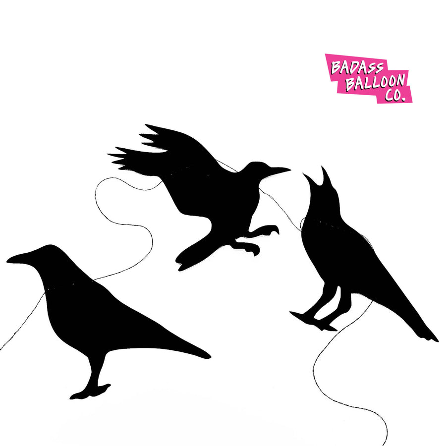 Black Crow Halloween Party banner and bunting