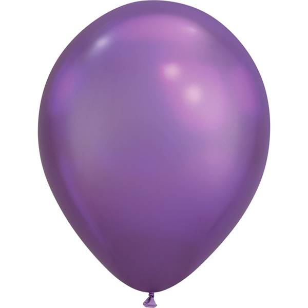 Chrome Purple Birthday Balloons Badass Balloon Co