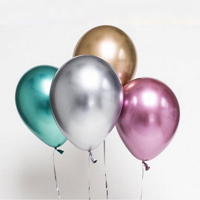 Mixed Color Chrome Birthday Balloon Pack