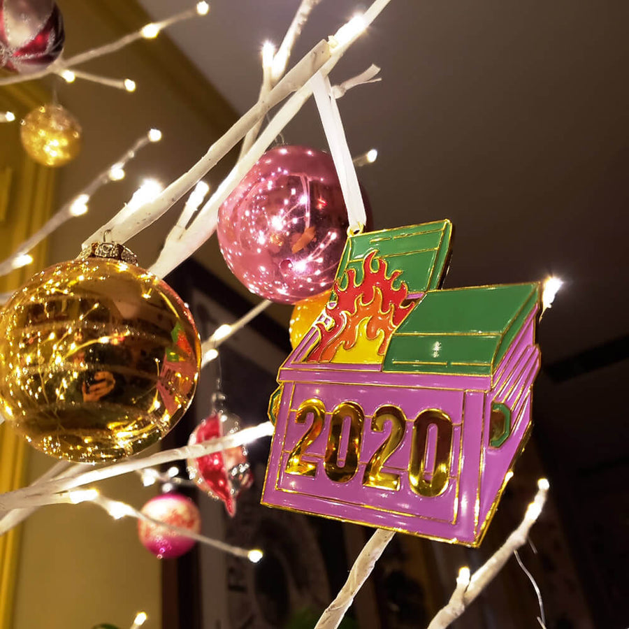 Dumpster Fire Christmas Ornament | 2020 Holiday Decoration | Christmas Tree Ornaments