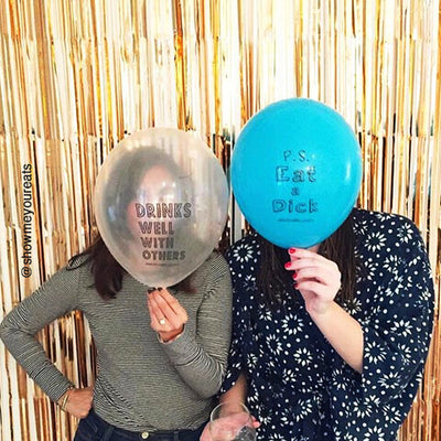 Eat a D*ck Funny Party & Birthday Balloons. Adult Party Favors and Biodegradable Balloons