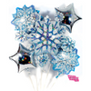 Holiday Snowflake Balloon Bouquet - badassballoonco