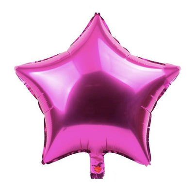Giant Hot Pink Star Shape Balloons