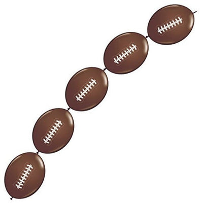 Football Printed Linking Balloon Decor Playoff Championship college football Super Bowl Balloons