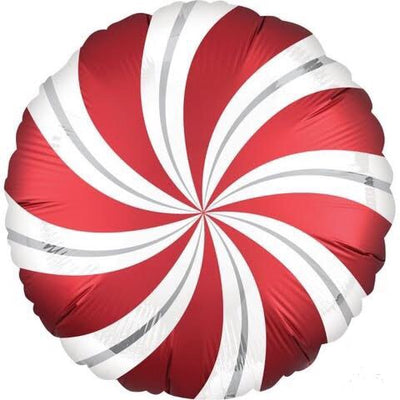 Peppermint Candy Swirl Badass Balloons. Christmas decor and craft.
