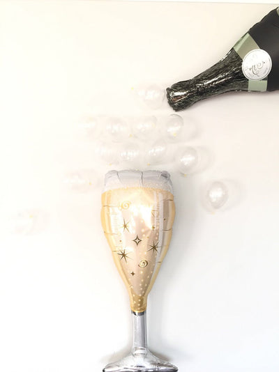 Champagne glass Foil Balloon.