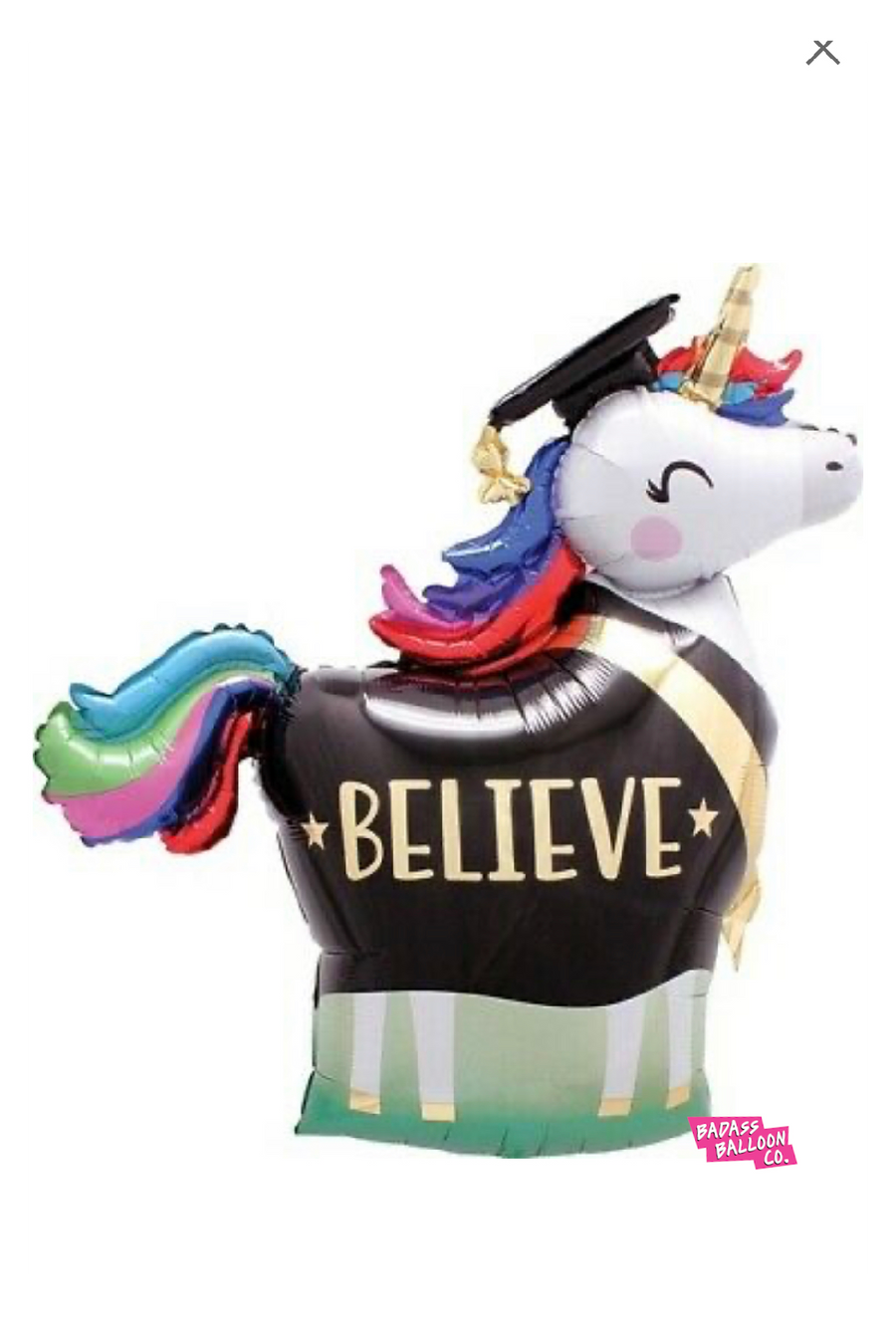 Unicorn Graduate supershape balloon