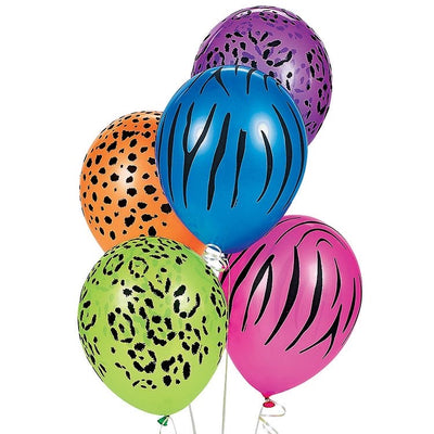 Neon Jungle theme Printed balloons