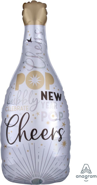 New Years Eve Champagne Balloon white Satin finish. Roaring 20s.