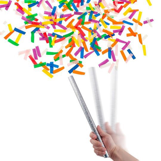 Badass Confetti Wands: multi colored