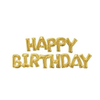 HAPPY BIRTHDAY Block Phrase Script Balloon Gold