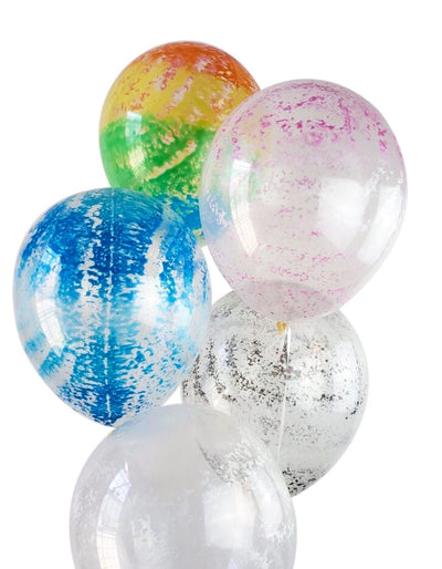 Rainbow Splatter Paint Party Balloons Pack