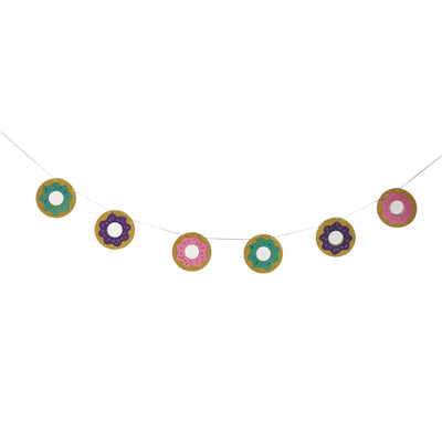 Donut paper Party banner and bunting