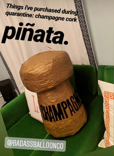 Badass Party Pinatas: Champagne Cork