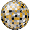 Round Disco Ball Balloon for NYE decor Roaring 20s Twenties Decor.