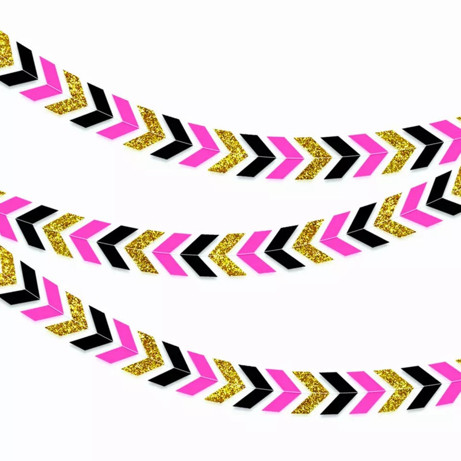 Chevron style paper Party banner and bunting