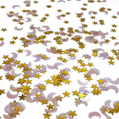 Mini Star and Moon Iridescent Confetti Badass Balloon Co